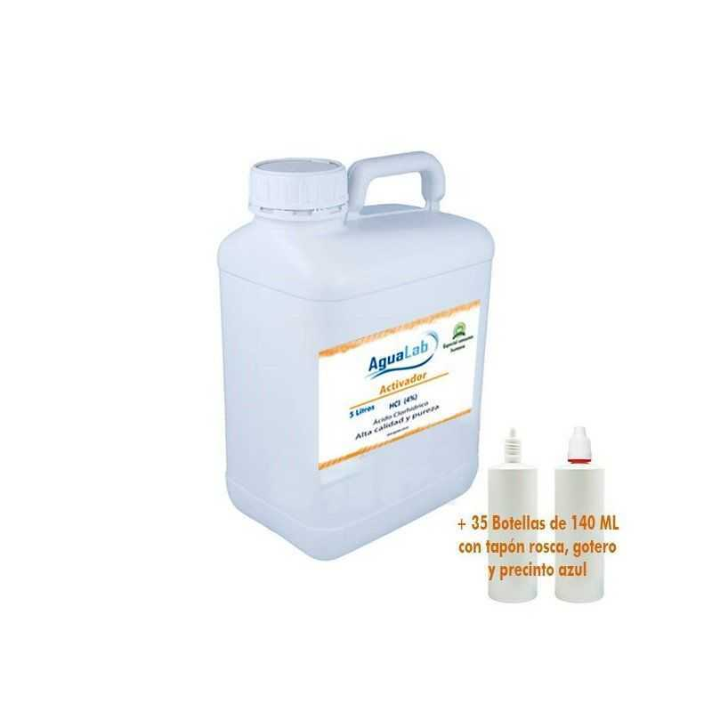 5 Liter + 35 Dosen 140 ml für Großhändler - 4% Salzsäure Agualab - 1