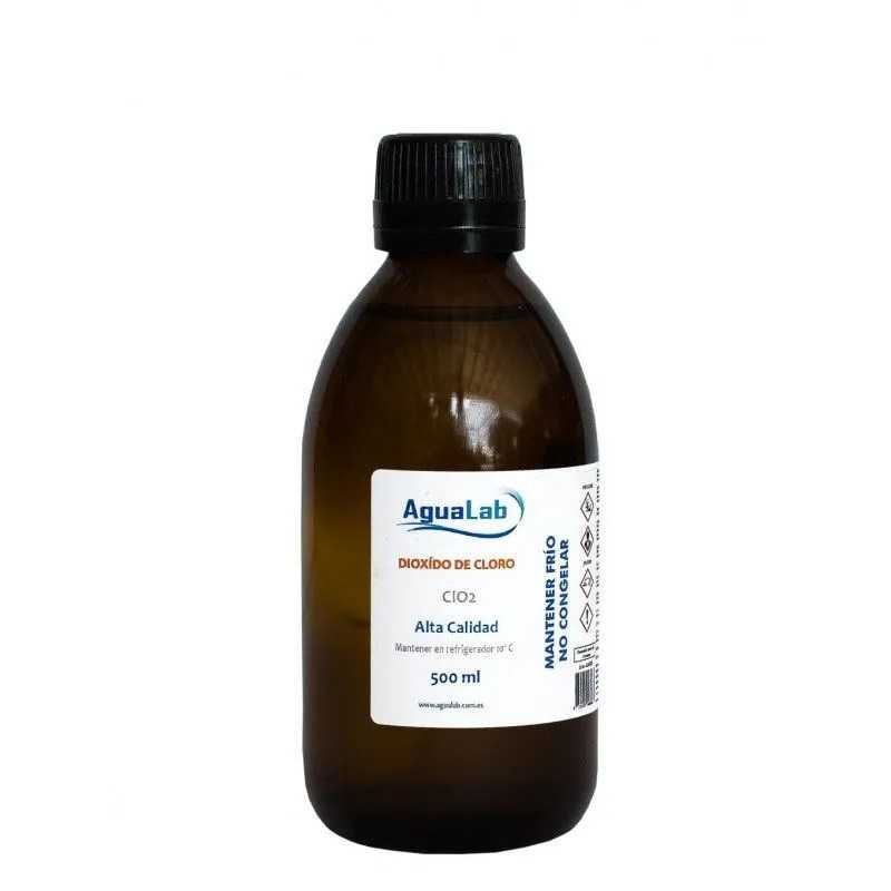 Chlorine Dioxide in glass bottle 500 ml. Agualab - 1