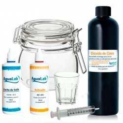 Kit Agualab water treatment tools 1+1 Clorito Sódico al 25% + Activador Ácido Clorhídrico 4% 140 ml Agualab - 1